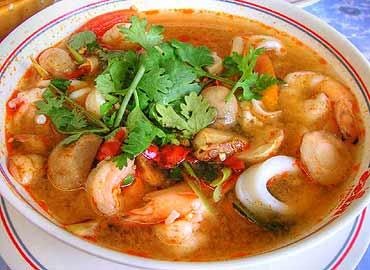 Sopa afrodisiaca de marisco