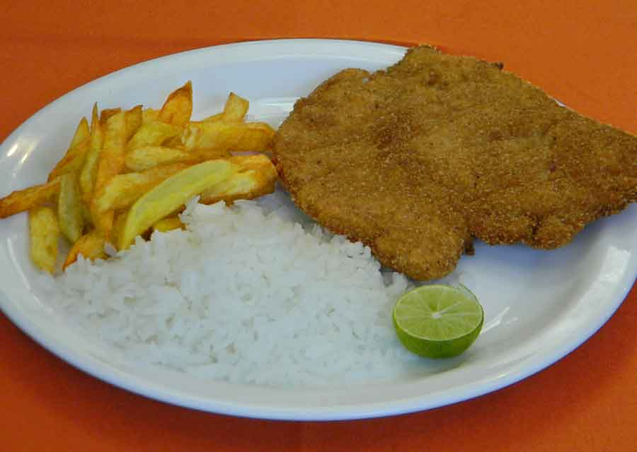 Receta de arroz con pollo a la milanesa