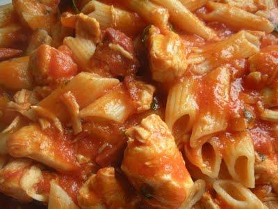 Receta de macarrones con pollo