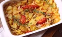 papas al horno con cebolla