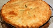 pastel de pollo y maiz en su crema